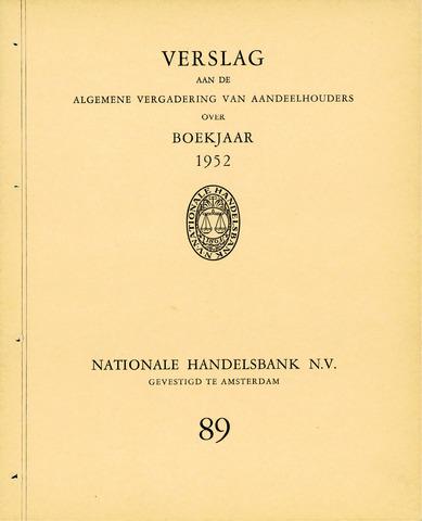 Nationale Handelsbank 1952