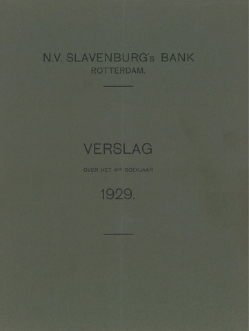 Slavenburg's Bank 1929
