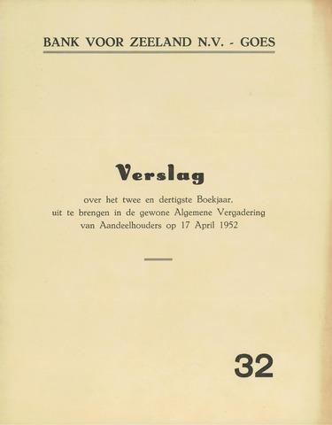 Bank voor Zeeland 1951