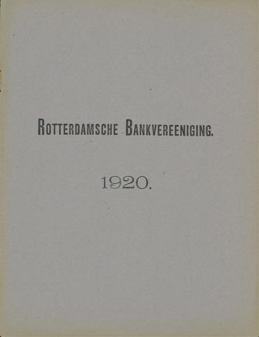 Rotterdamsche Bank 1920