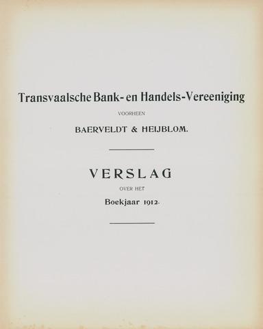 Transvaalsche Bank- en Handelsvereeniging 1912