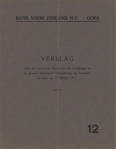 Bank voor Zeeland 1931