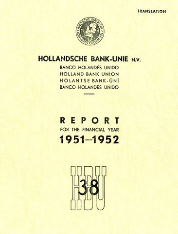 Hollandsche Bank-Unie 1951