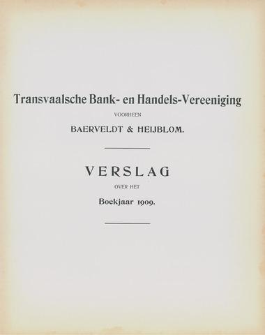Transvaalsche Bank- en Handelsvereeniging 1909