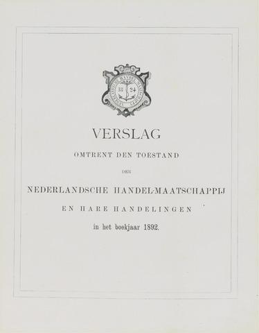 Nederlandsche Handel-Maatschappij 1892