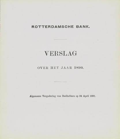 Rotterdamsche Bank 1890