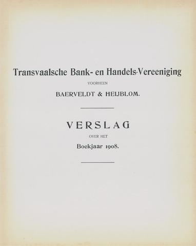 Transvaalsche Bank- en Handelsvereeniging 1908