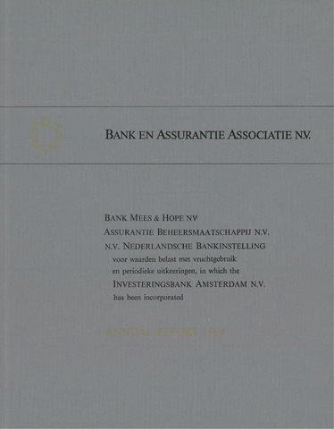 Bank en Assurantie Associatie 1969