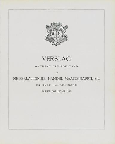 Nederlandsche Handel-Maatschappij 1932