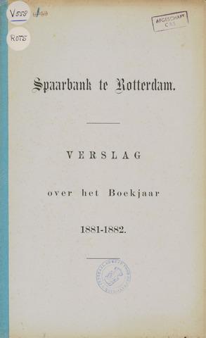 Spaarbank te Rotterdam 1881