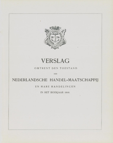 Nederlandsche Handel-Maatschappij 1916