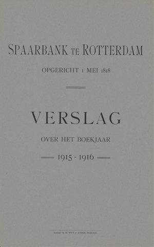 Spaarbank te Rotterdam 1915