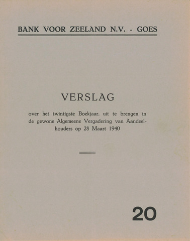Bank voor Zeeland 1939