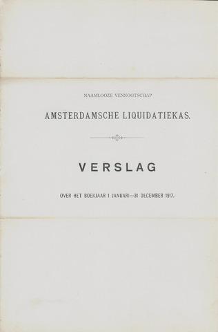 Amsterdamsche Liquidatiekas - Amsterdamsche Goederenbank 1917