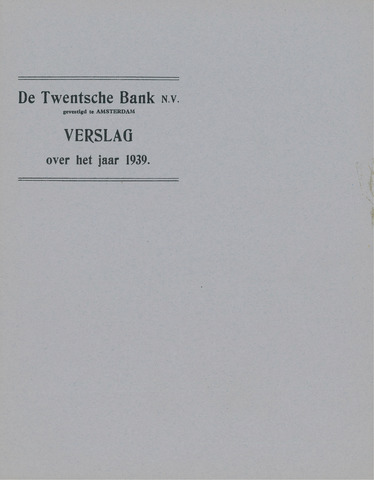 Twentsche Bank 1939
