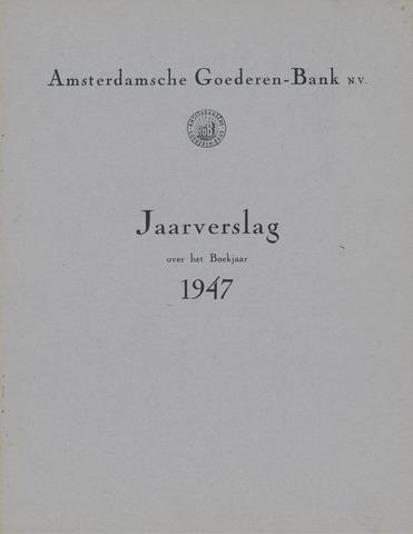 Amsterdamsche Liquidatiekas - Amsterdamsche Goederenbank 1947