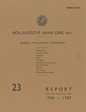 Hollandsche Bank-Unie 1936