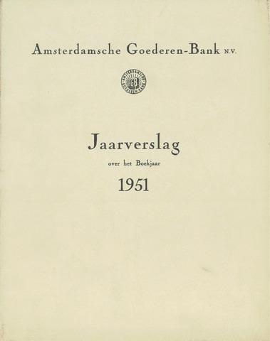 Amsterdamsche Liquidatiekas - Amsterdamsche Goederenbank 1951