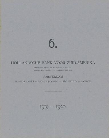 Hollandsche Bank voor Zuid-Amerika 1919