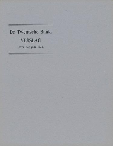 Twentsche Bank 1924