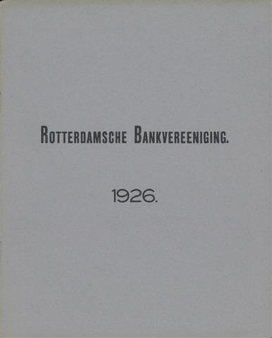 Rotterdamsche Bank 1926