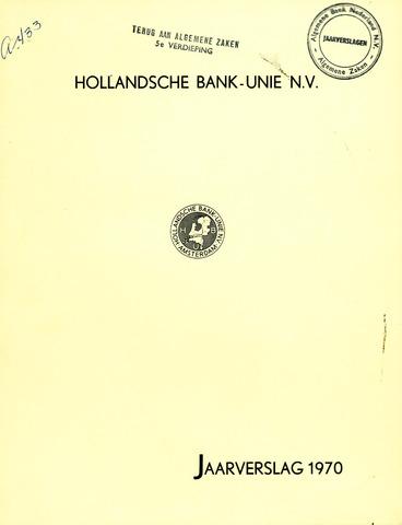 Hollandsche Bank-Unie 1970