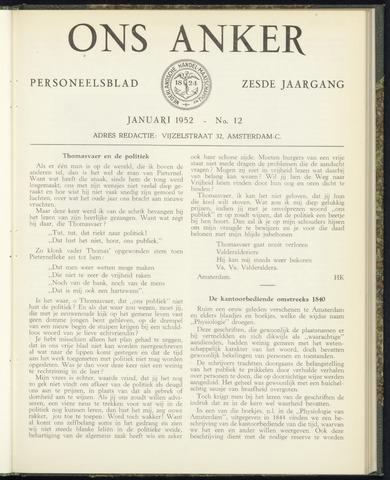 Nederlandsche Handel-Maatschappij - Ons Anker 1952