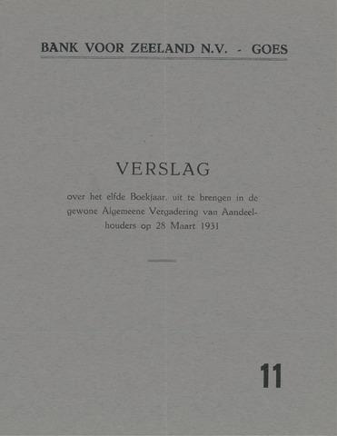 Bank voor Zeeland 1930