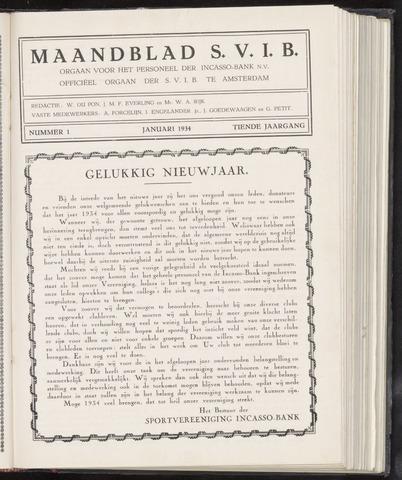 Incasso-Bank - Maandblad SVIB 1934