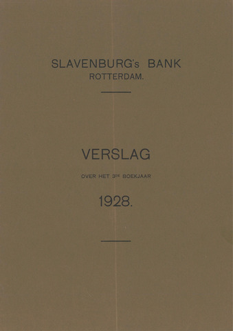Slavenburg's Bank 1928