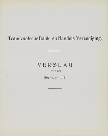 Transvaalsche Bank- en Handelsvereeniging 1918