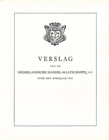 Nederlandsche Handel-Maatschappij 1952