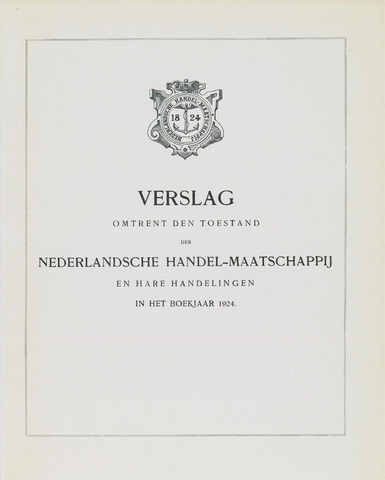 Nederlandsche Handel-Maatschappij 1924