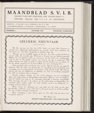 Incasso-Bank - Maandblad SVIB 1933