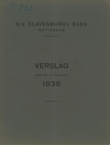 Slavenburg's Bank 1936