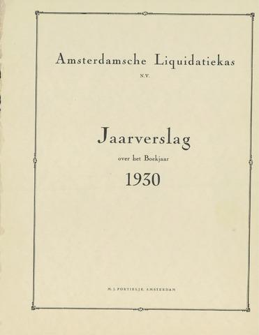 Amsterdamsche Liquidatiekas - Amsterdamsche Goederenbank 1930