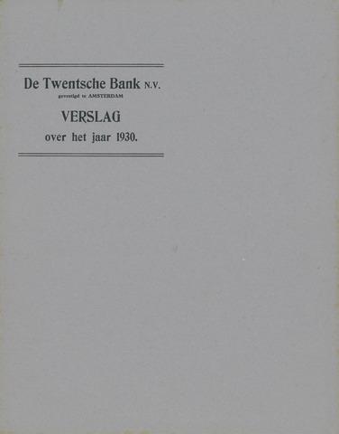 Twentsche Bank 1930