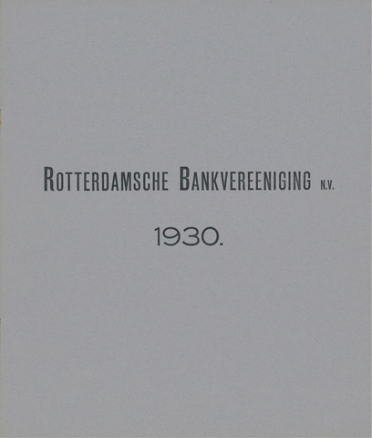 Rotterdamsche Bank 1930