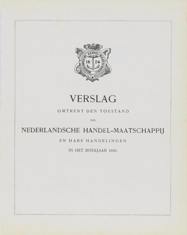 Nederlandsche Handel-Maatschappij 1926