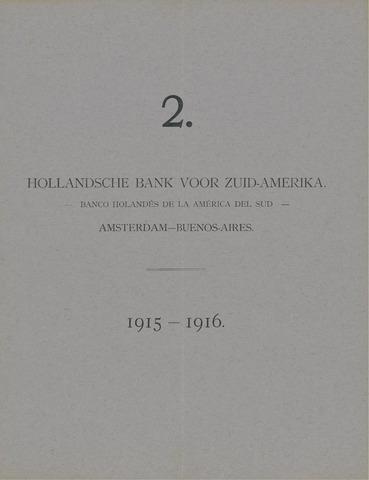 Hollandsche Bank voor Zuid-Amerika 1915