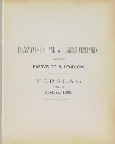 Transvaalsche Bank- en Handelsvereeniging 1898