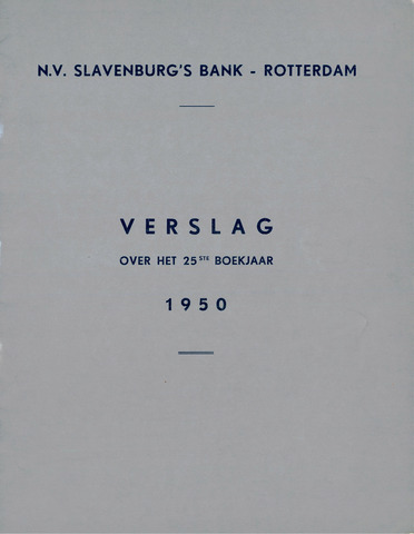 Slavenburg's Bank 1950