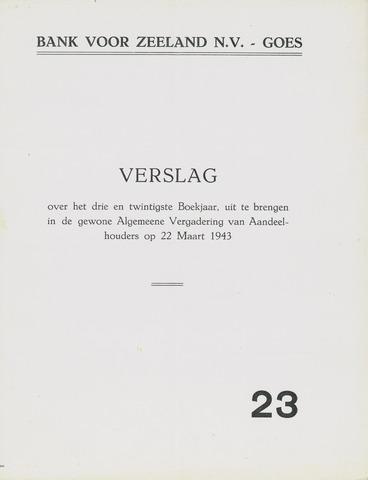 Bank voor Zeeland 1942