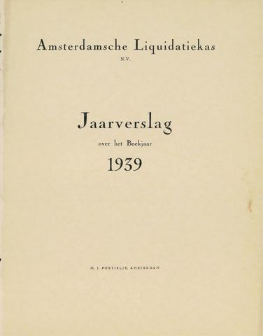 Amsterdamsche Liquidatiekas - Amsterdamsche Goederenbank 1939