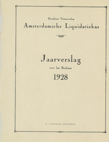 Amsterdamsche Liquidatiekas - Amsterdamsche Goederenbank 1928