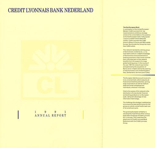 Credit Lyonnais Bank Nederland 1991