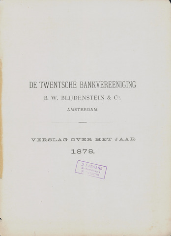 Twentsche Bank 1878