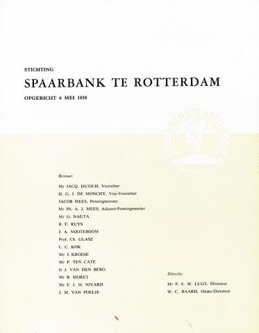 Spaarbank te Rotterdam 1958