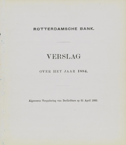 Rotterdamsche Bank 1884
