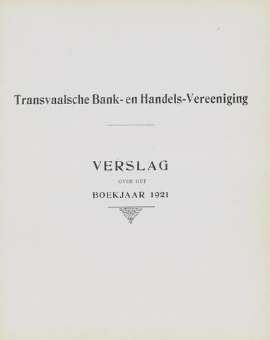 Transvaalsche Bank- en Handelsvereeniging 1921